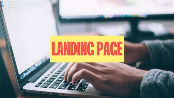 creer landing page