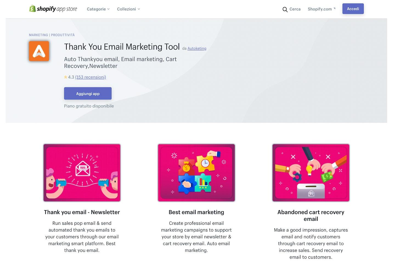 migliori app Shopify email