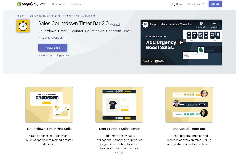 migliori app Shopify conto alla rovescia