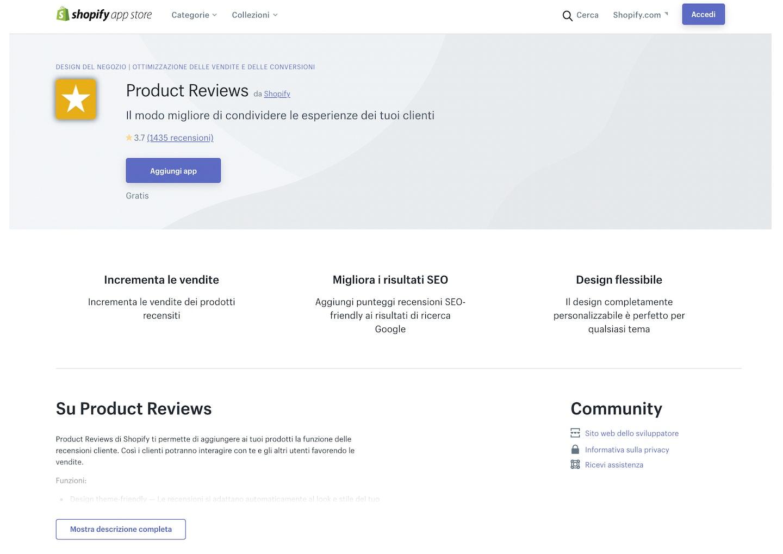 migliori app Shopify recensione prodotti e social proof