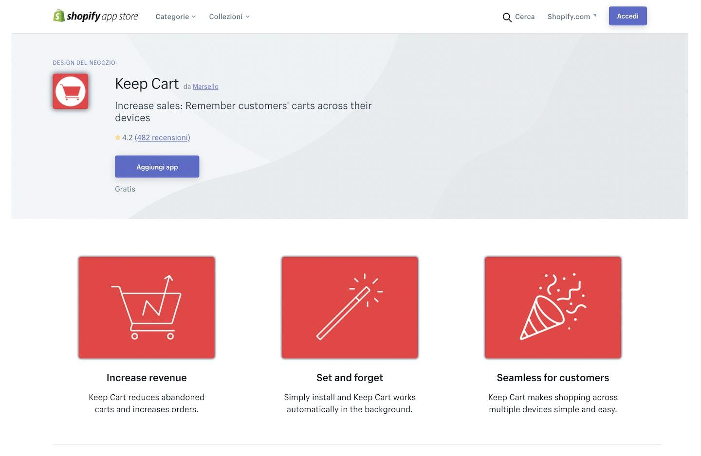 migliori app Shopify carrelli abbadonati