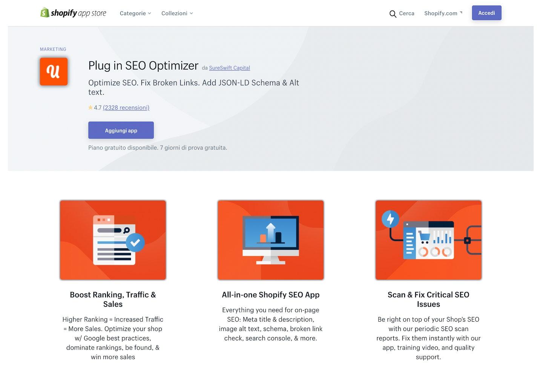 migliori app Shopify ottimizzazione SEO