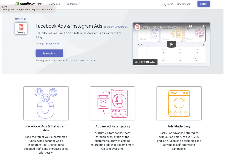 migliori app Shopify Facebook e Instagram Ads