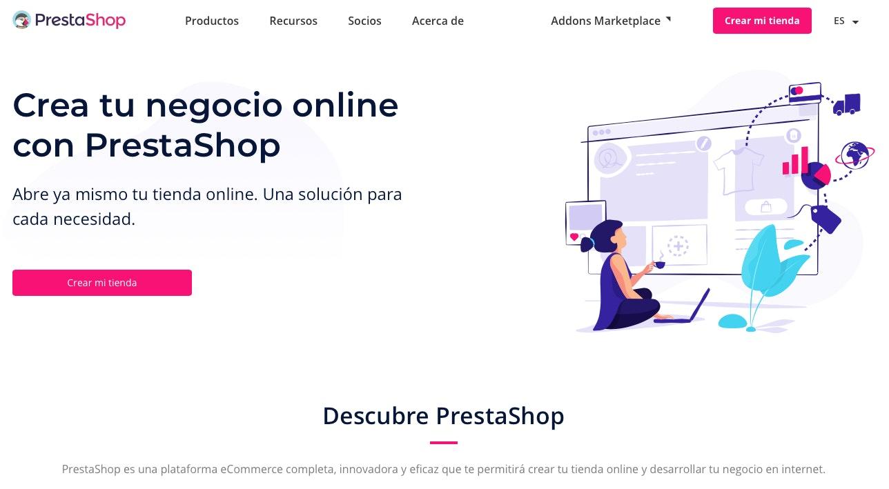 plataformas de venta online colombia prestashop