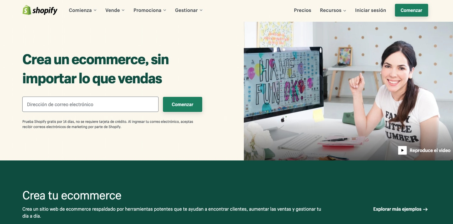 ecommerce colombia shopify