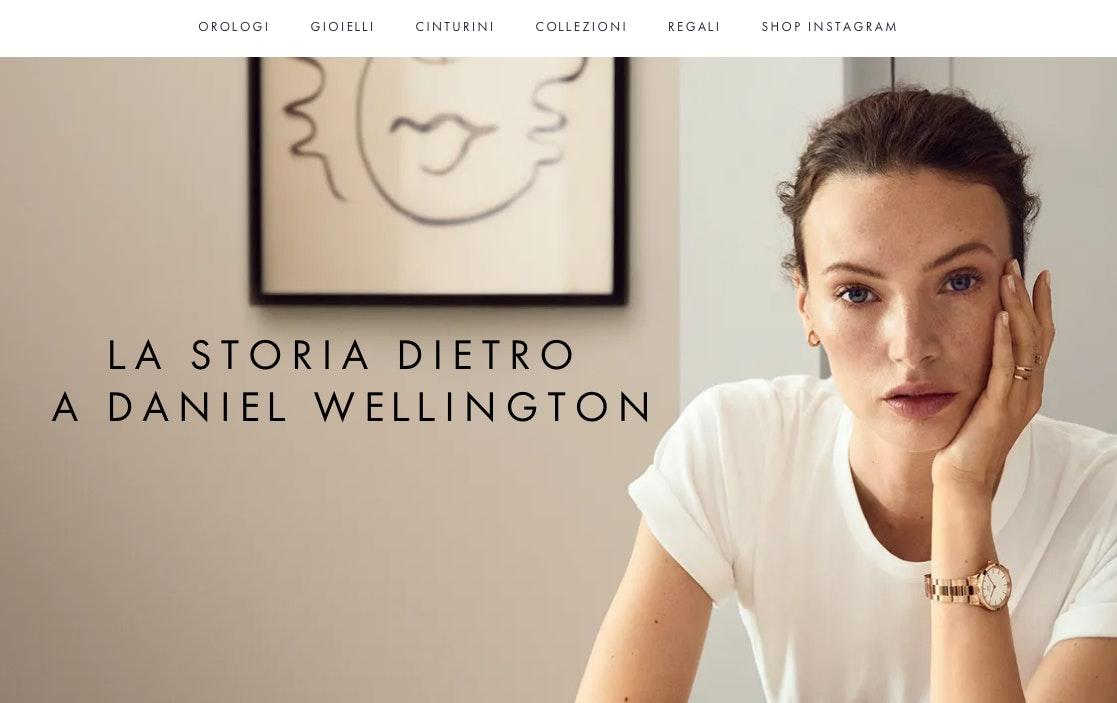 esempio pagina chi siamo: daniel wellington
