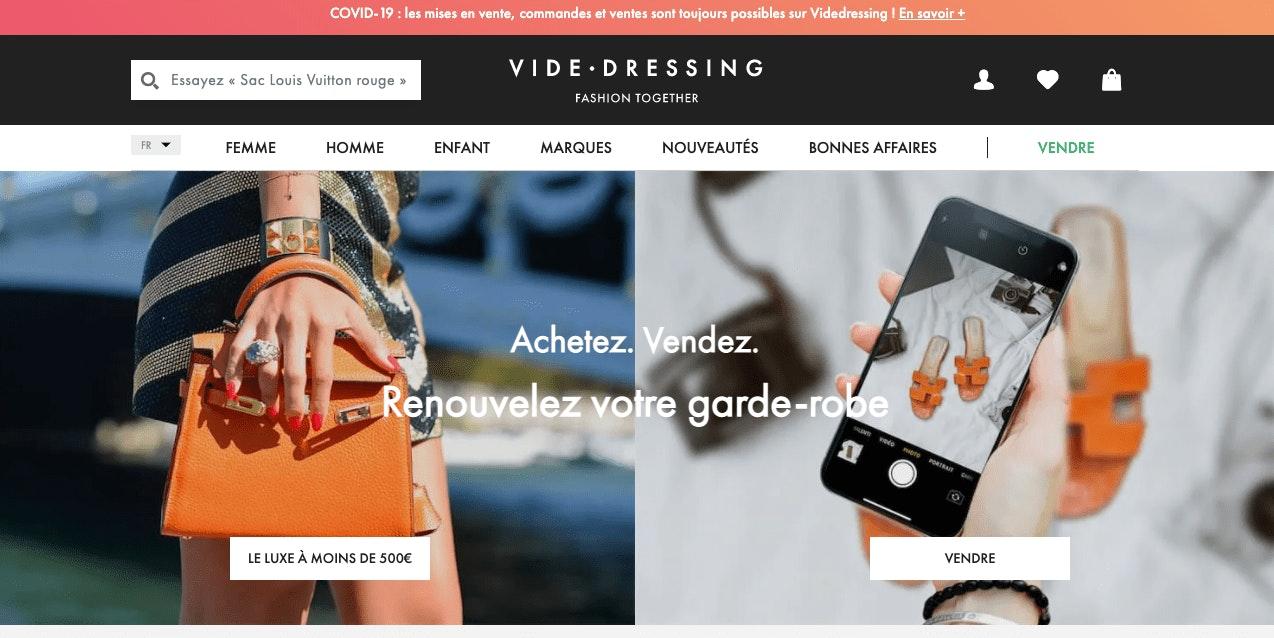 Vendre ses vêtements sur Vide Dressing
