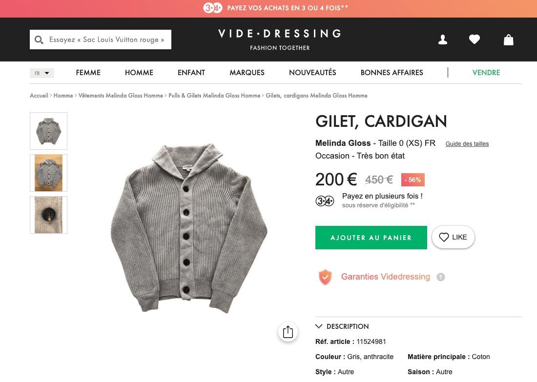 Fiche Vide Dressing