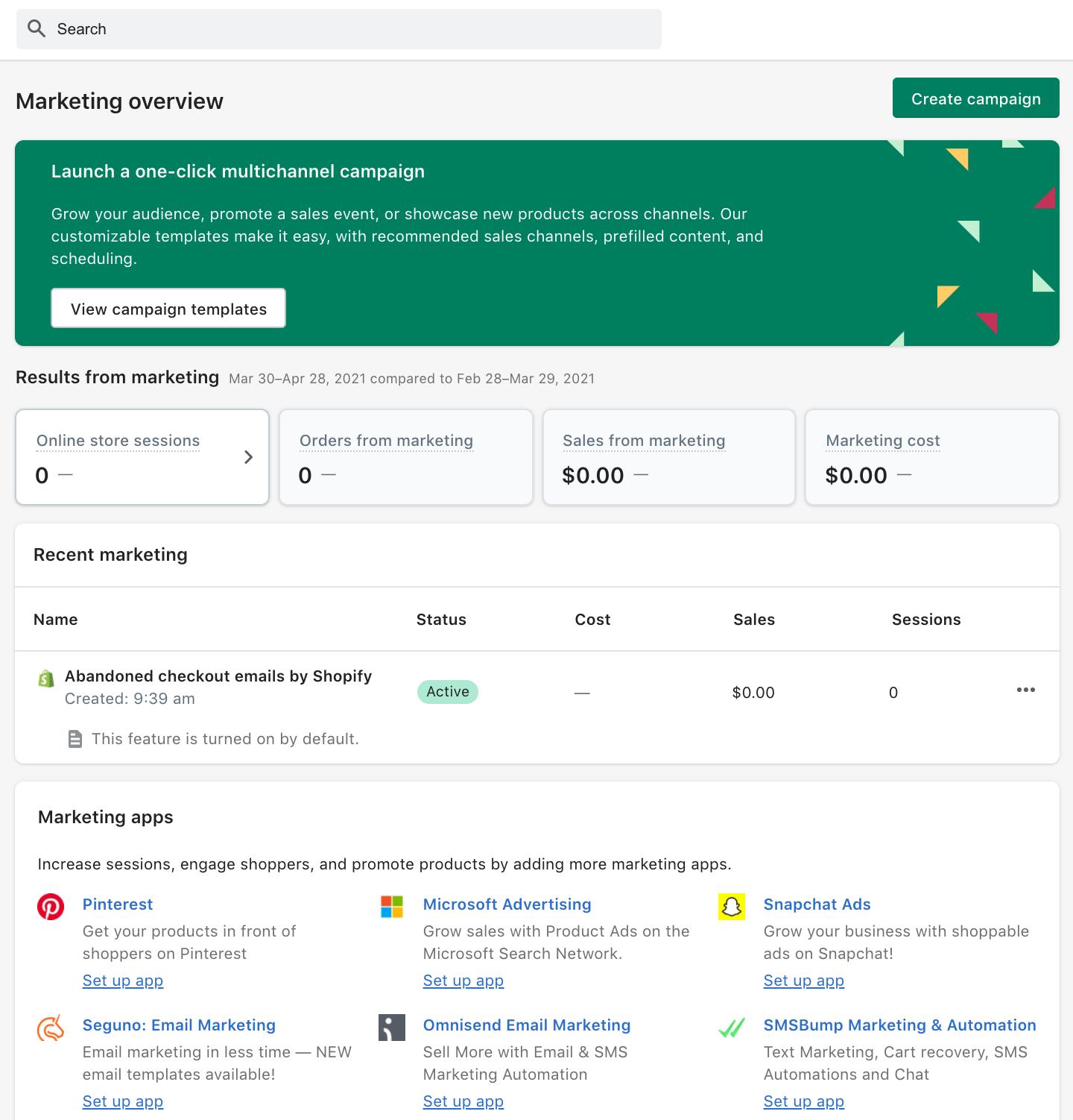 Using Shopify's Marketing Tools