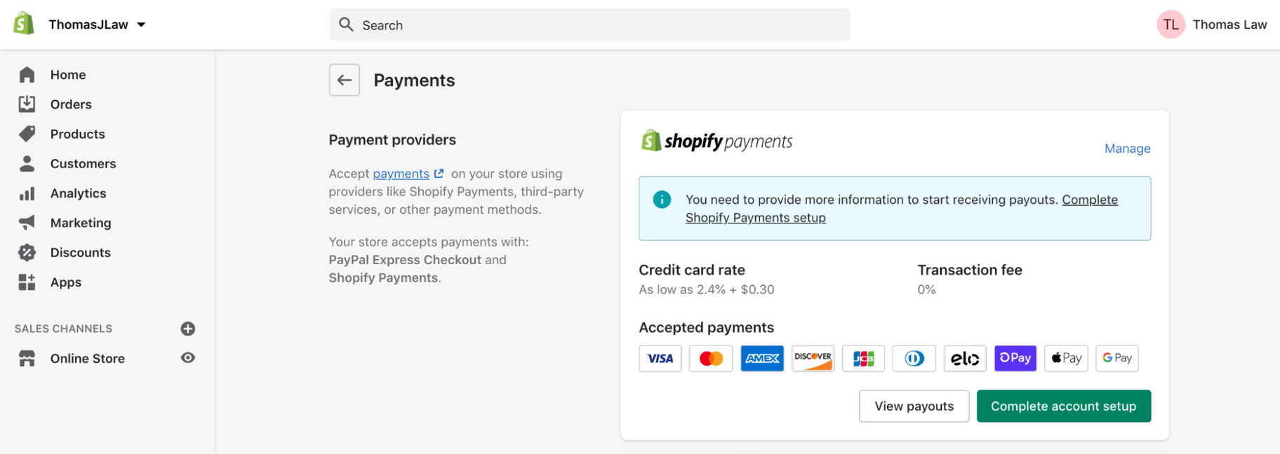 Shopify Tutorial for Beginners: Payments