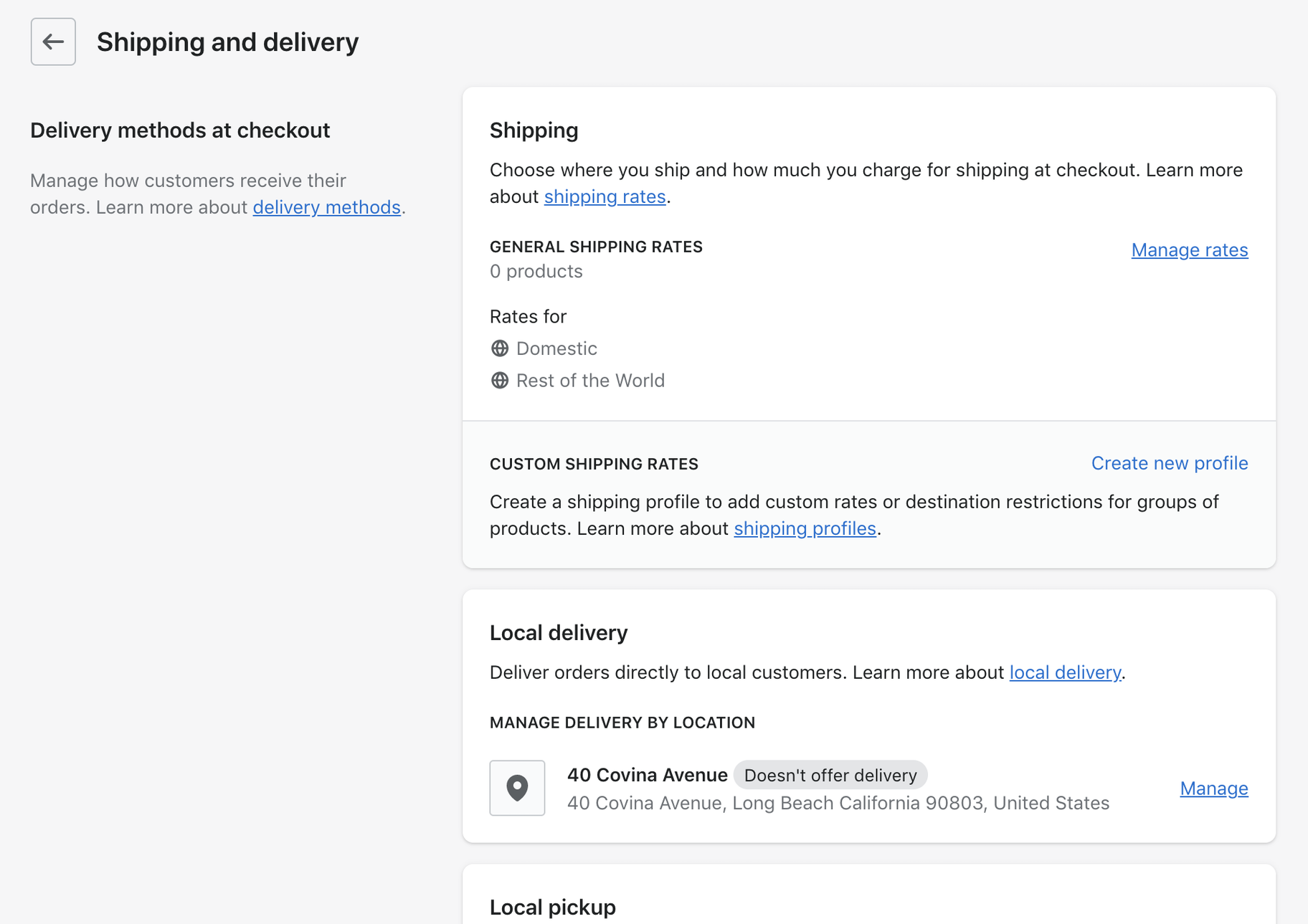 Shopify Guide: Shipping