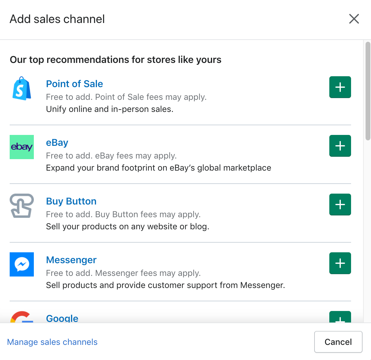 Using Shopify's Sales Channels