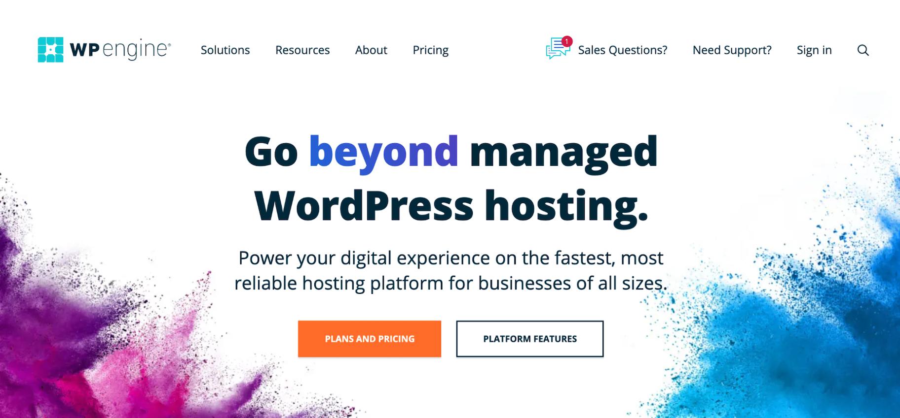 Websites Like GoDaddy: WP Engine