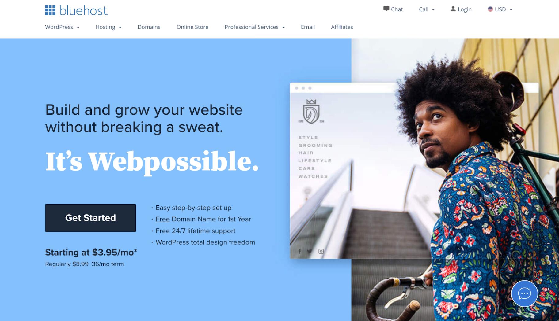 Other Companies Like GoDaddy: Bluehost