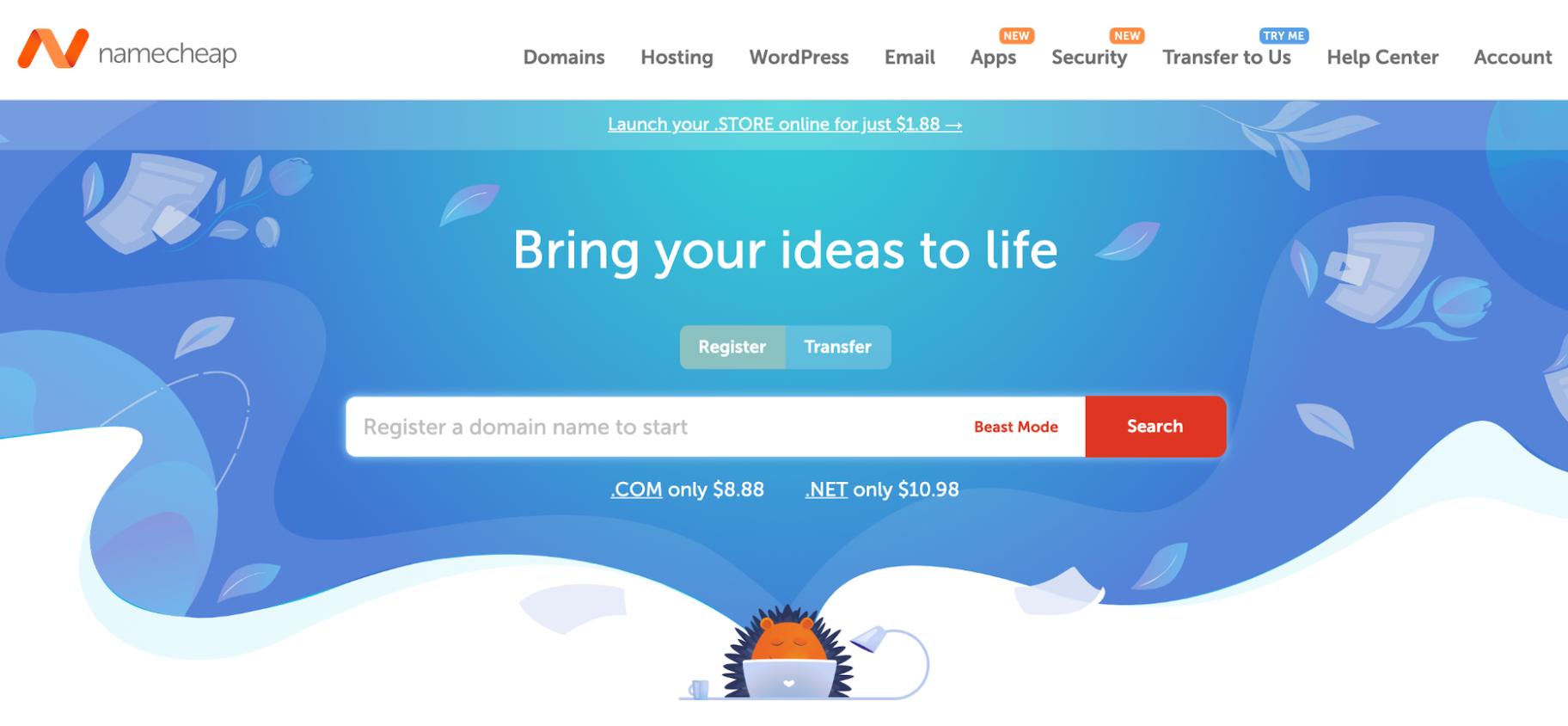 Sites Like GoDaddy: Namecheap