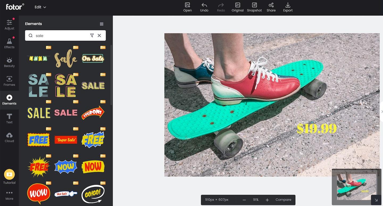 migliori programmi per modificare foto gratis: Fotor
