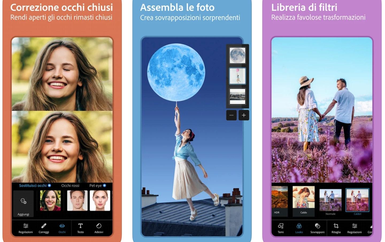 migliori programmi per modificare foto gratis: Adobe Photoshop Express