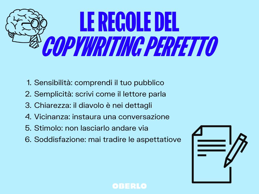 regole copywriting