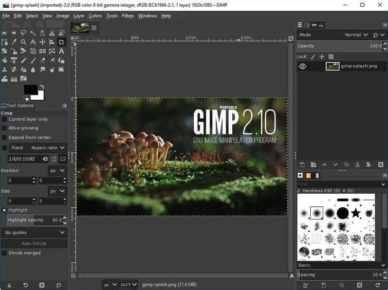 Programmi di grafica per PC e Mac: GIMP
