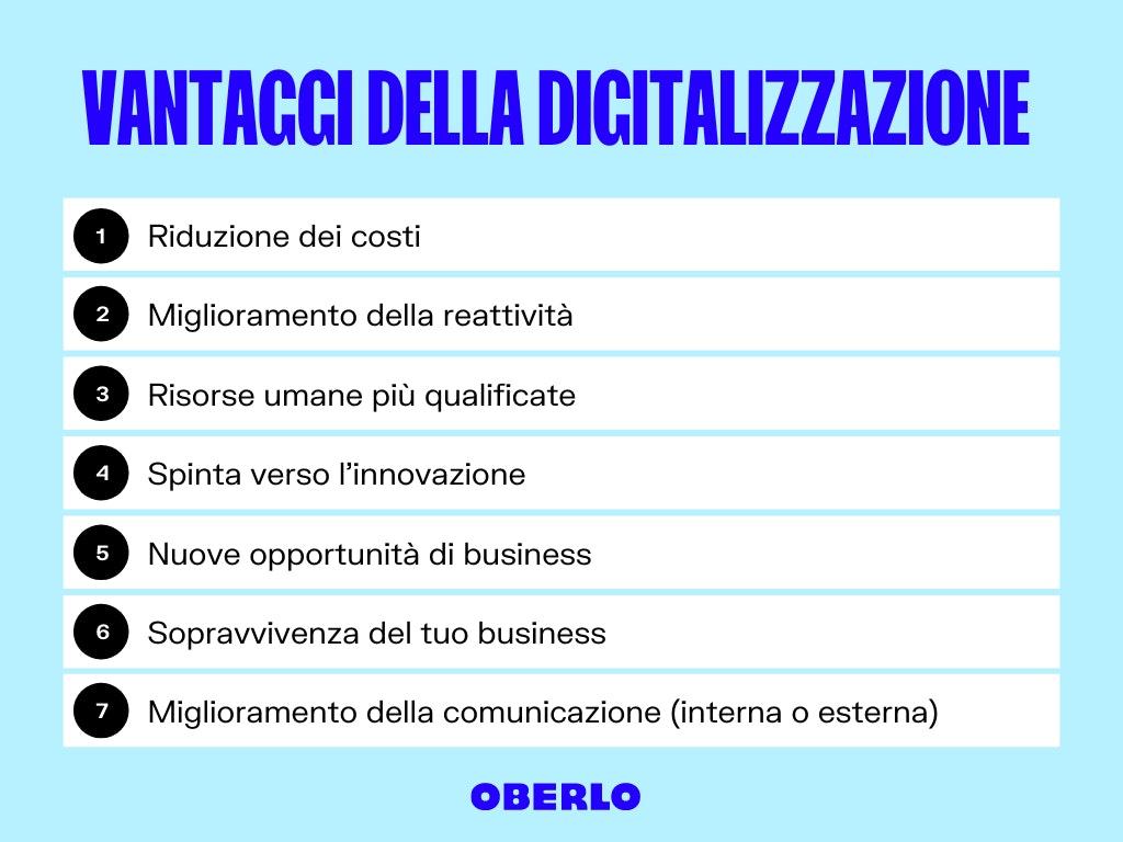 digital transformation: vantaggi