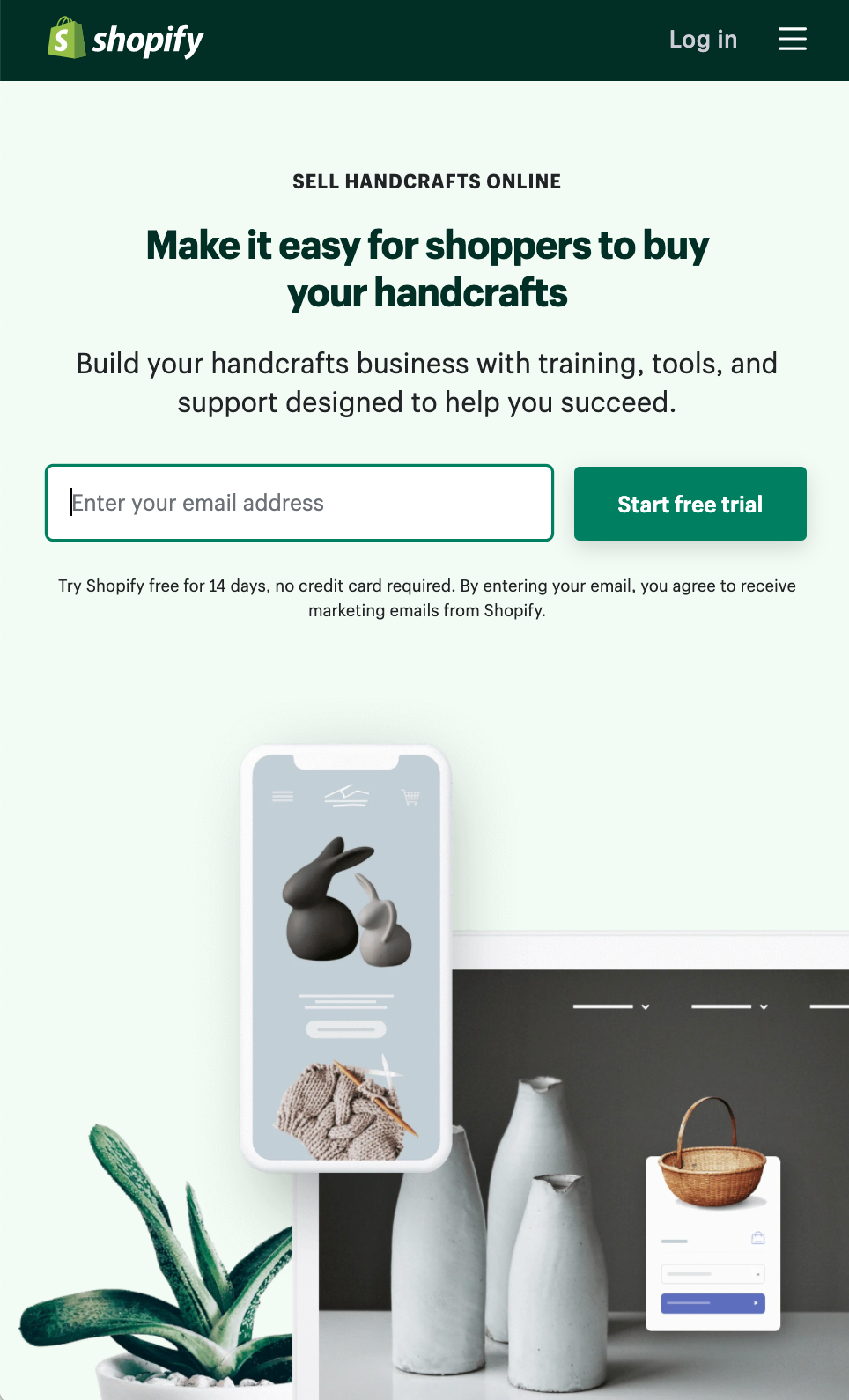 Small Business Ideas from Home: Shopify Handmade