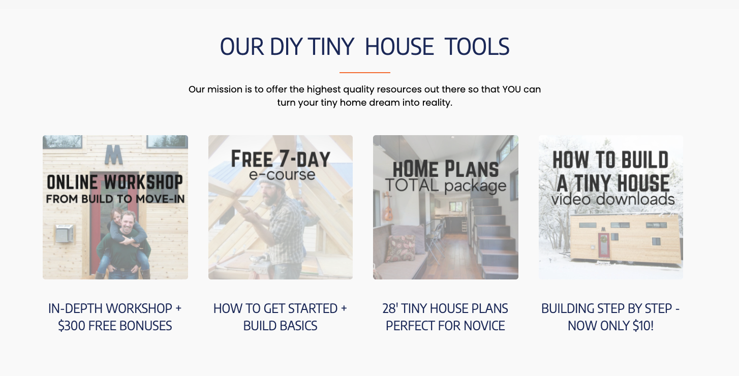 Sell Digital Products: Tiny House Build Example
