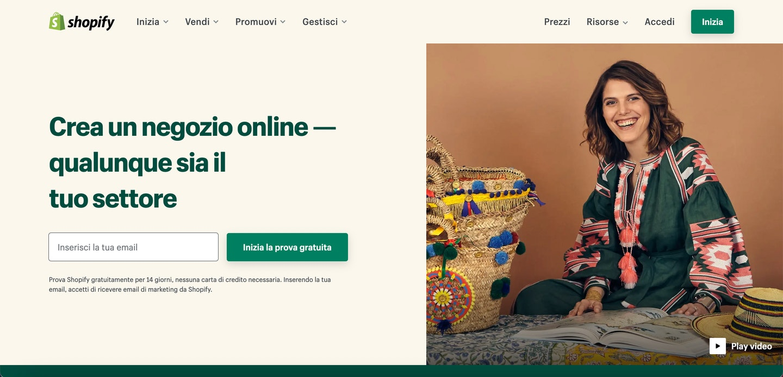 piattaforma ecommerce shopify