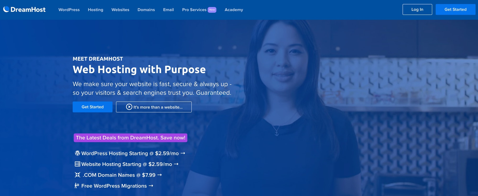 easy-to-use hosting platform: Dreamhost