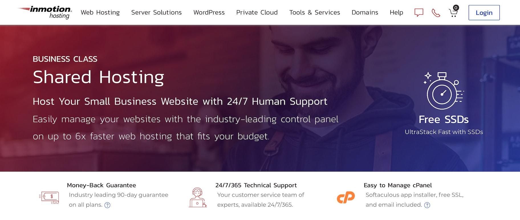 Secure ecommerce hosting provider: InMotion hosting