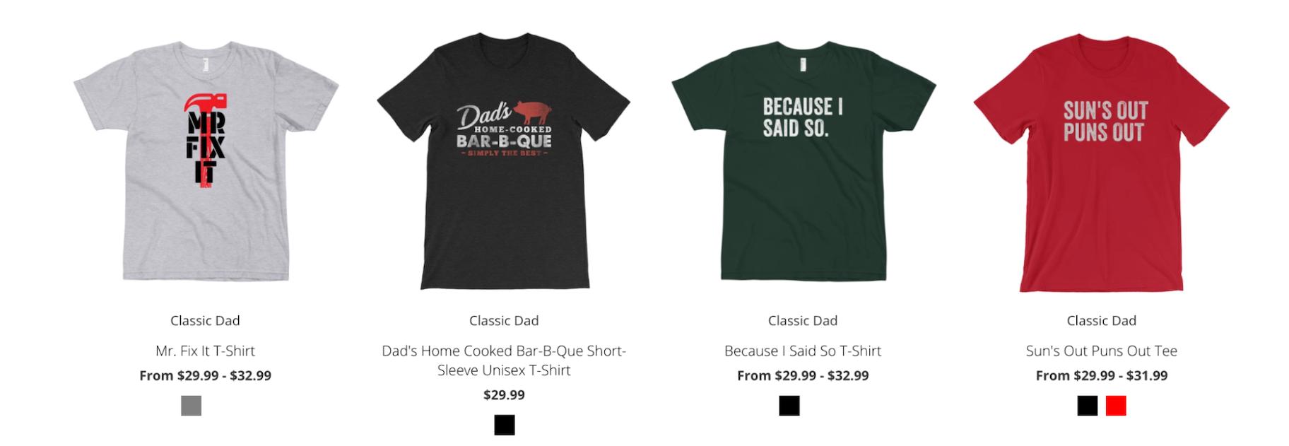 Print-on-Demand T-Shirts: Classic Dad