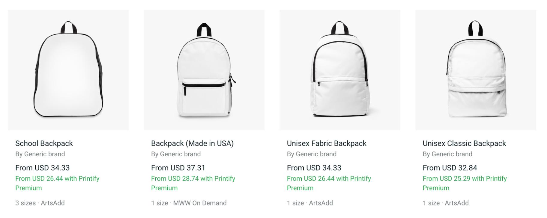 Printify: Print-on-Demand Backpacks