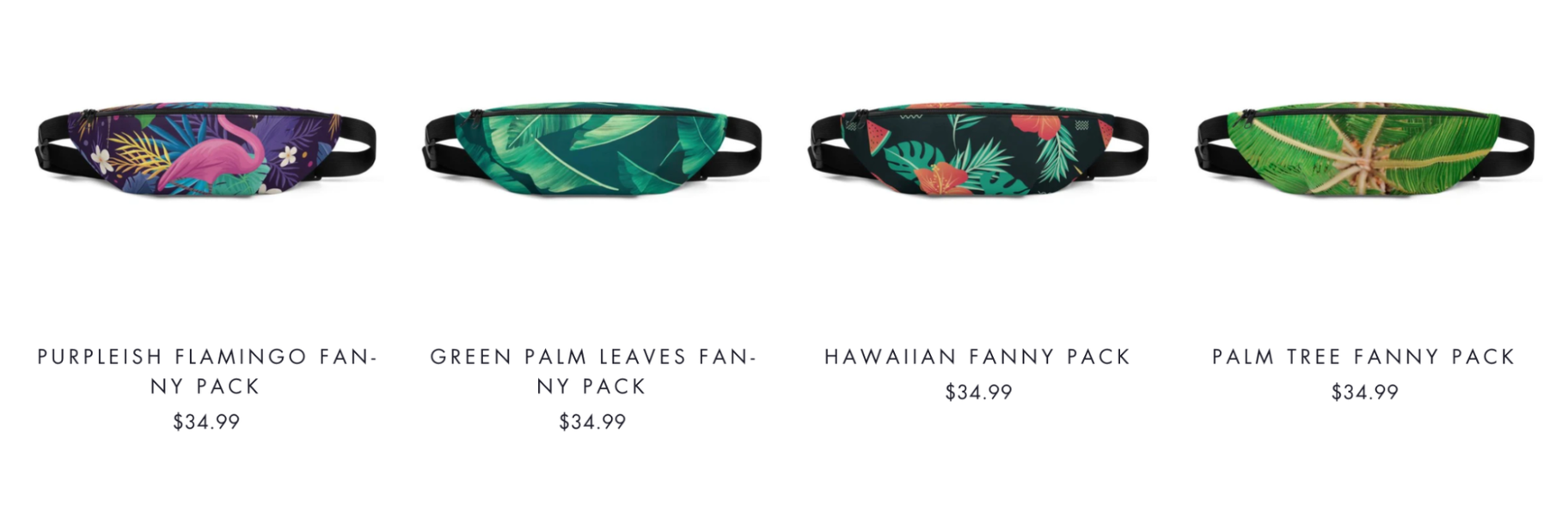 Tropical Boulevard: Print-on-Demand Fanny Packs