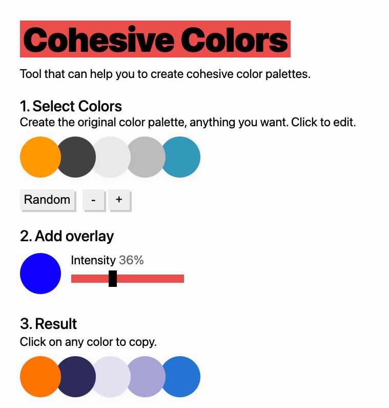 strumenti palette colori online: cohesive colors