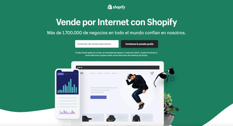 como hacer una landing page shopify