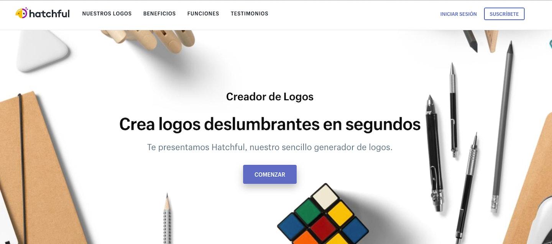 landing pages ejemplos logotipo