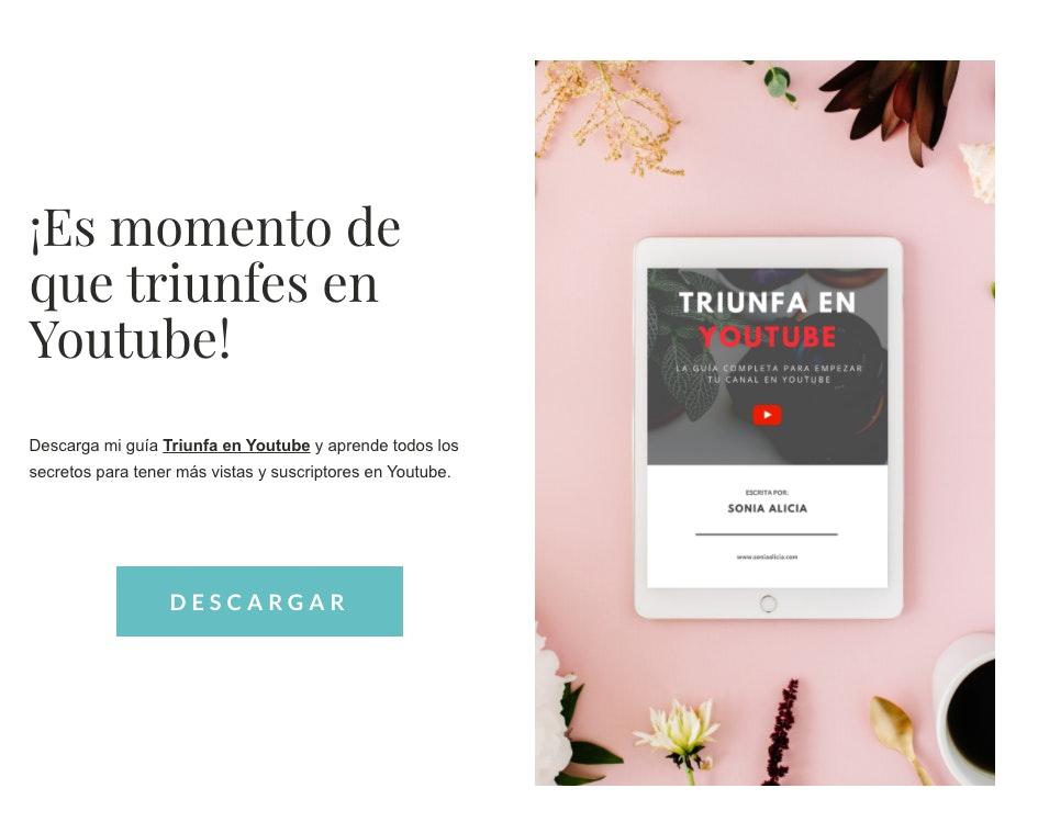 landing pages ejemplos minimalistas