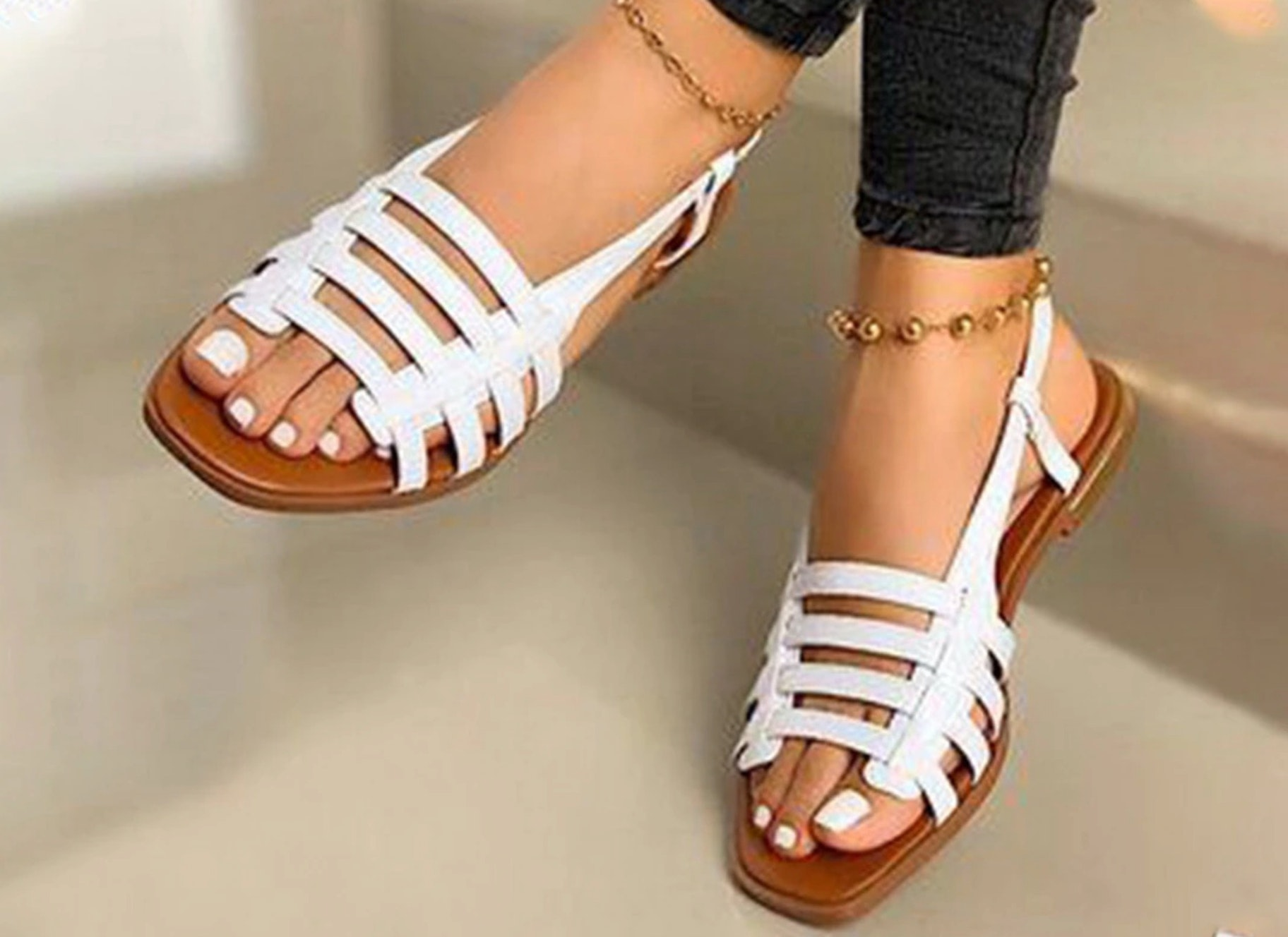 flat sandals sell fashion store