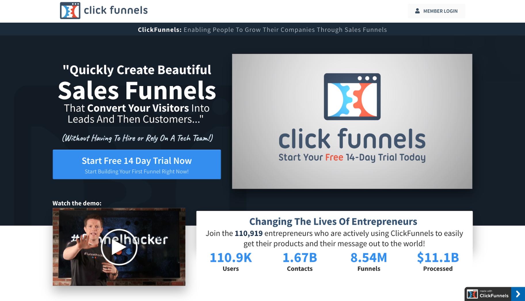 Wix Alternatives: ClickFunnels