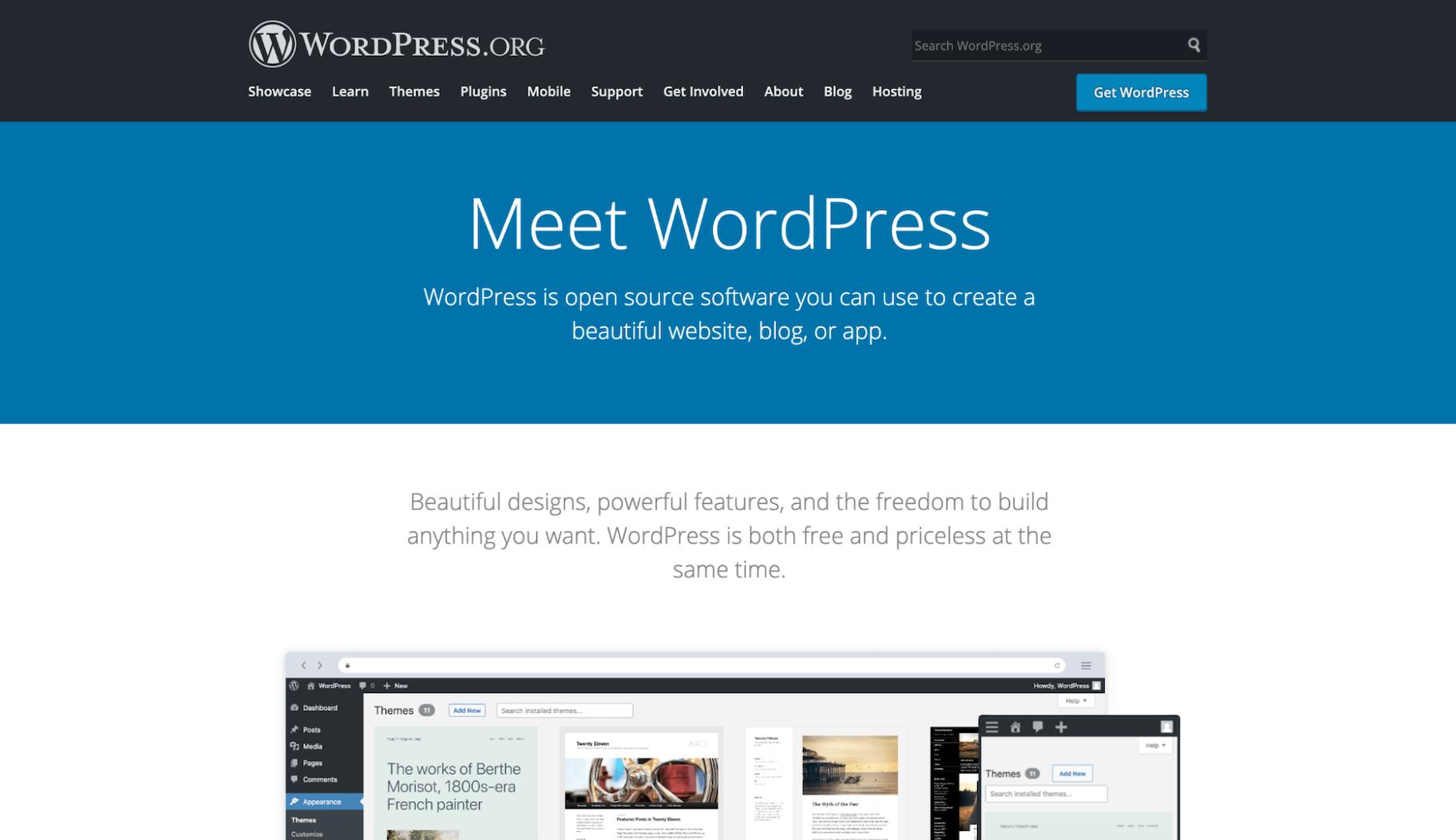 Website Builders Like Wix: WordPress