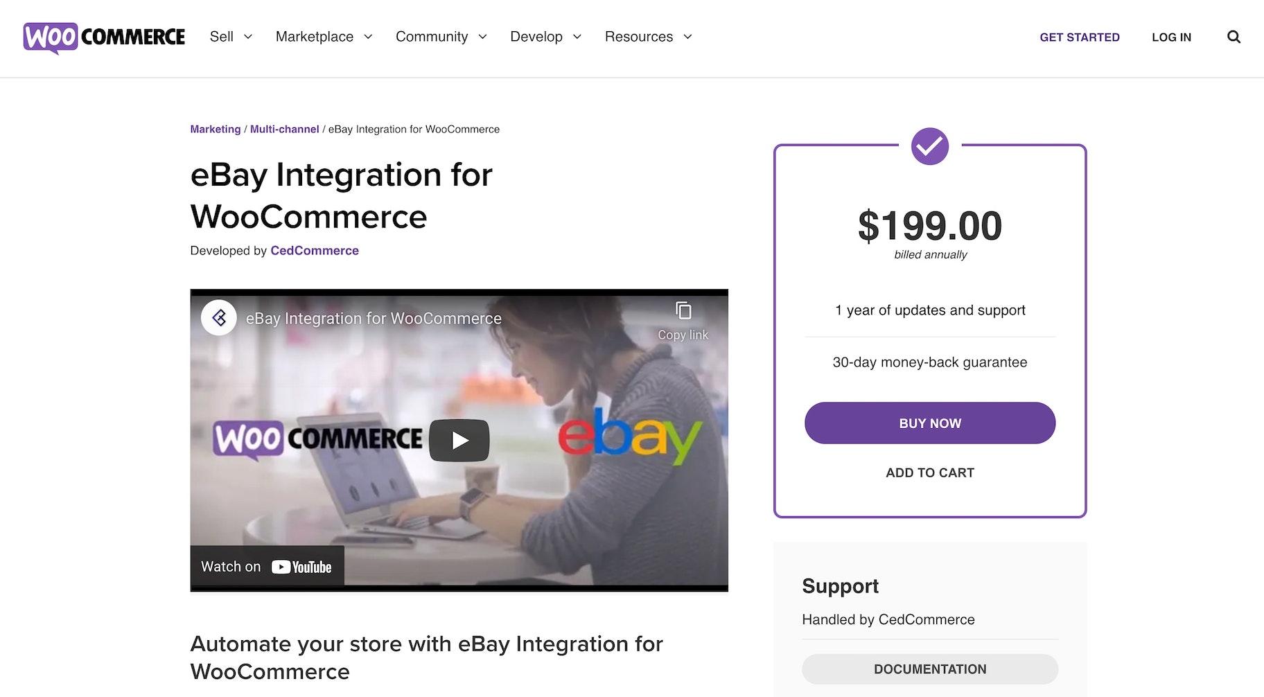 Woocommerce eBay extension