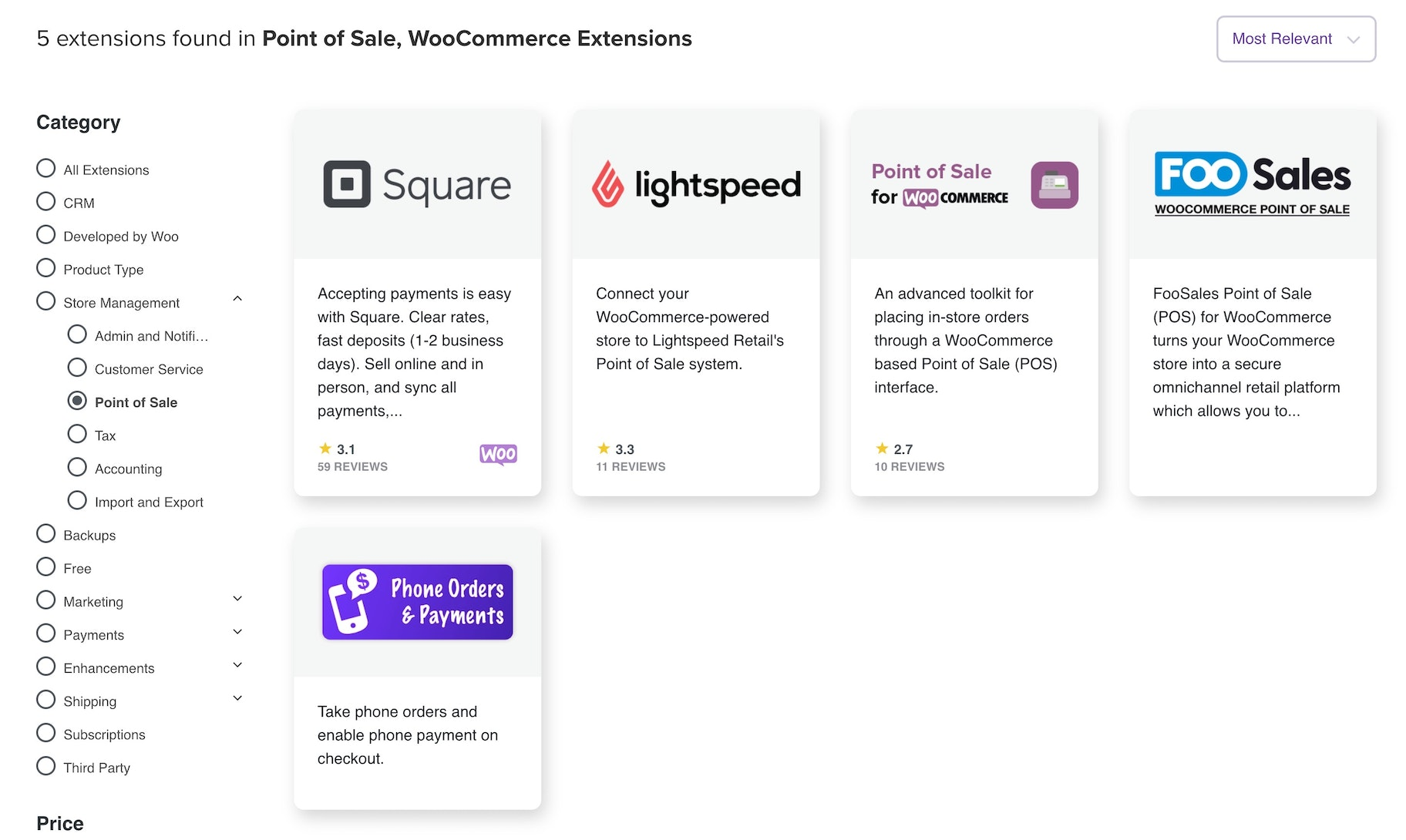 WooCommerce POS extensions