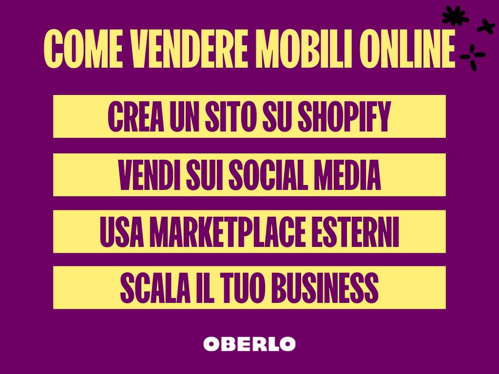 come vendere mobili online