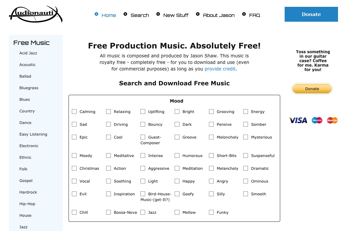Audionautix: siti per scaricare musica gratis royalty free