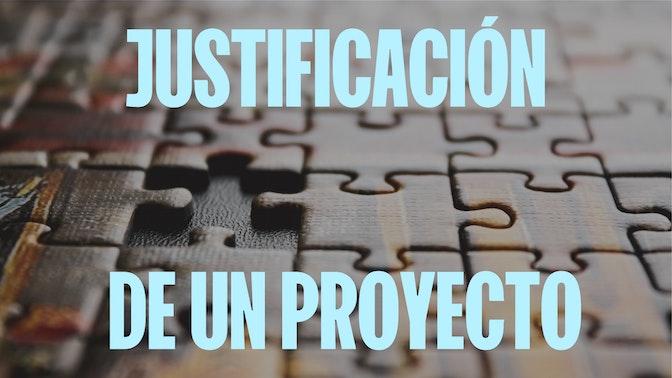 justificacion de un proyecto