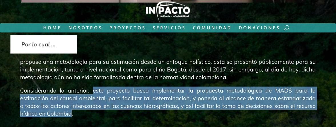 ejemplo de justificacion de un proyecto ambiental