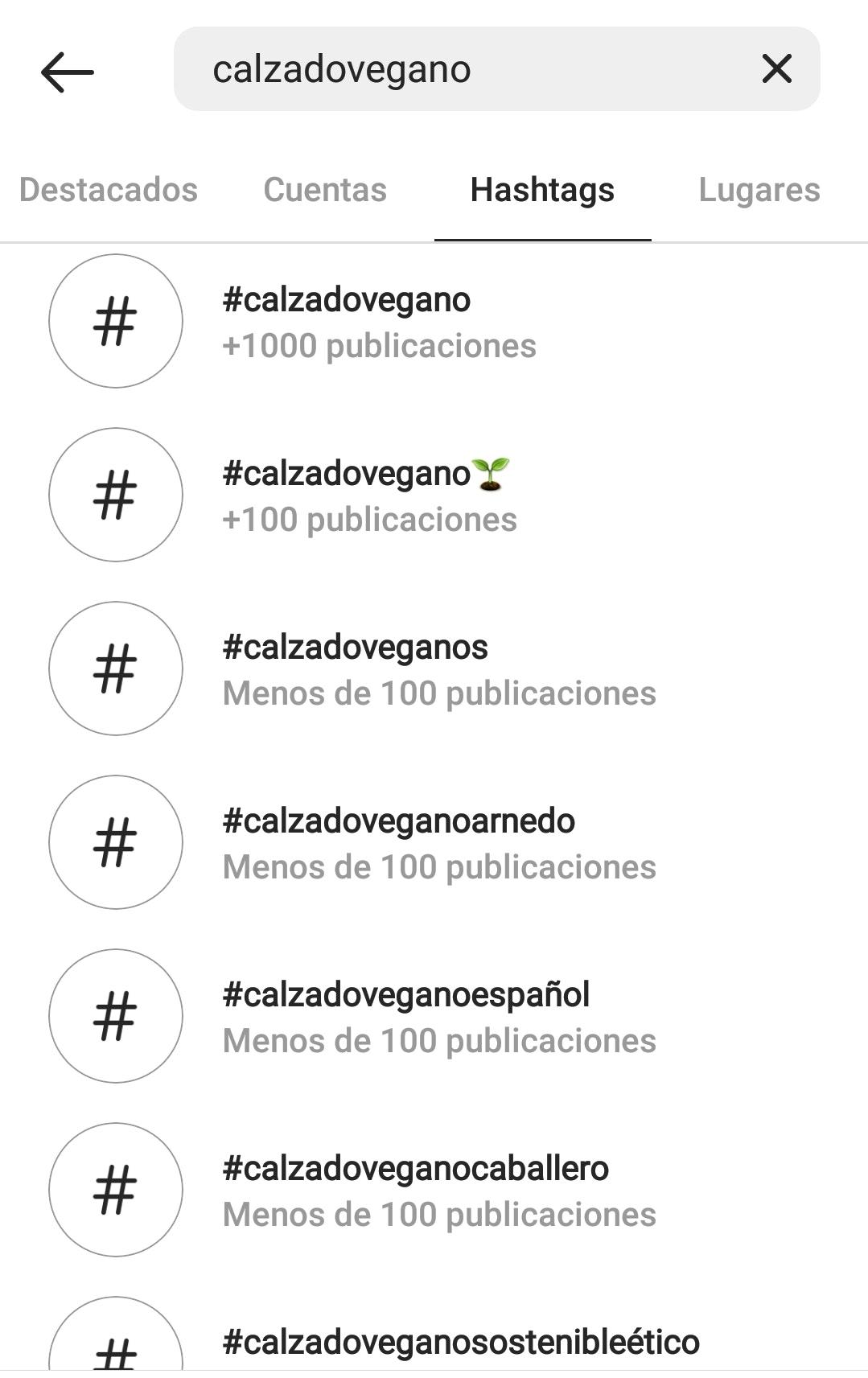 Hashtag en Instagram