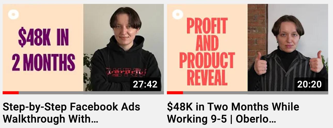 Oberlo YouTube Thumbnail Template