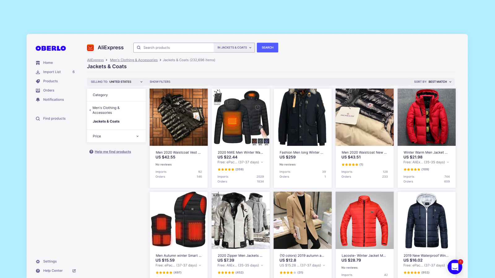 Dropshipping Sources: Oberlo