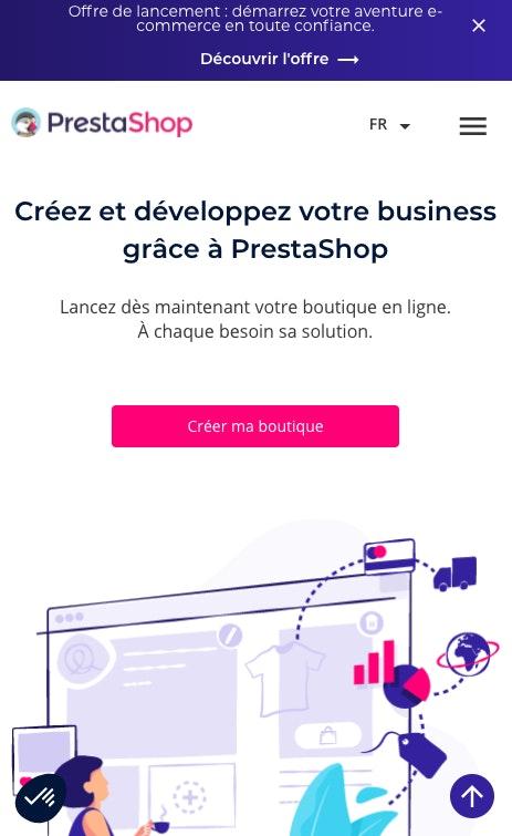 Ouvrir une boutique Prestashop