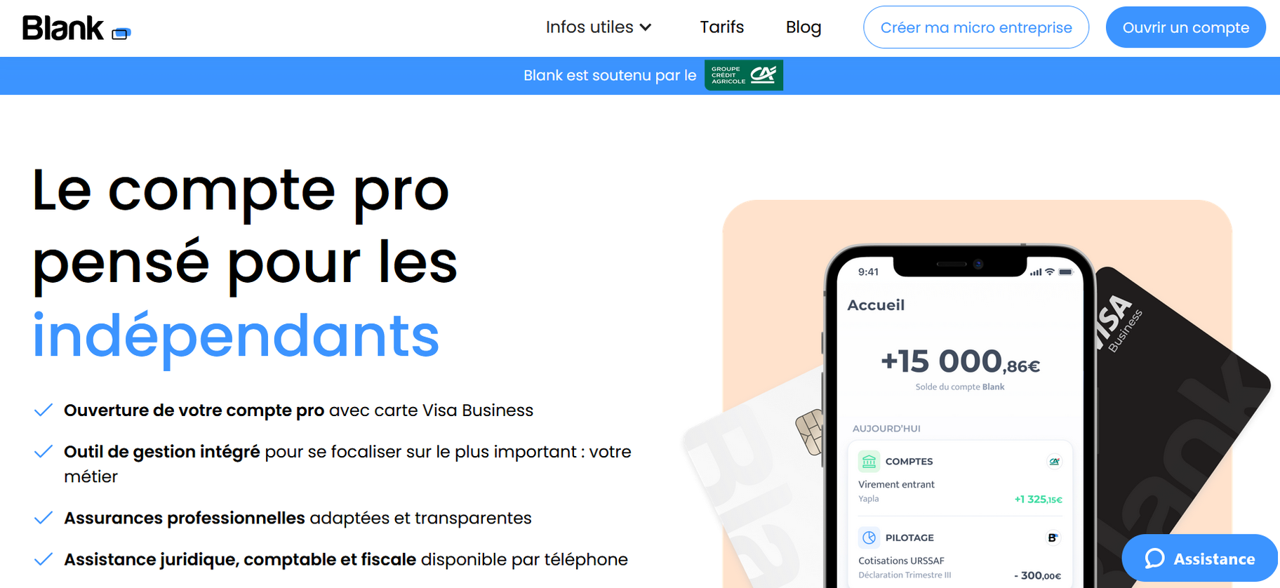 compte pro blank
